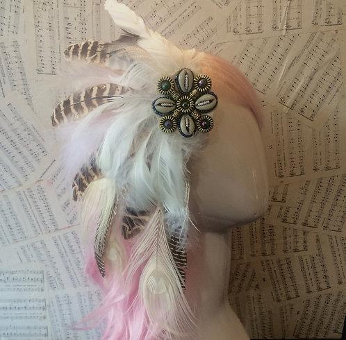 Beach bohemian hair piece