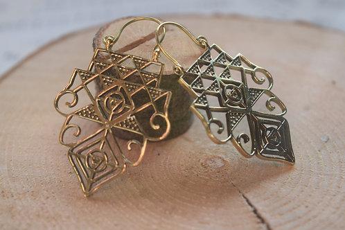 Temple Brass Earrings