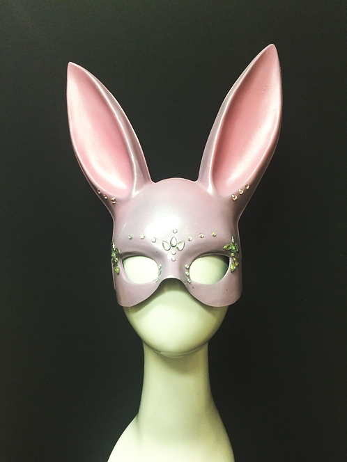Bejewelled Lilac Bunny Mask