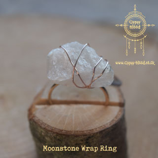 Raw Moonstone Wrap Ring