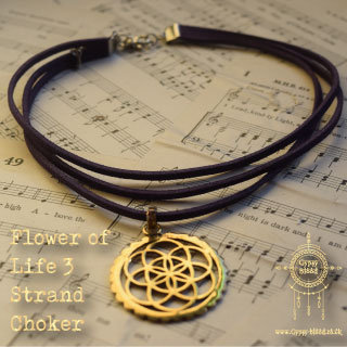 Flower of Life 3 Strand Choker