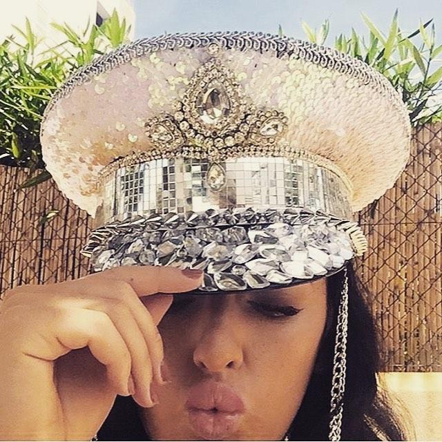 ibiza fashion jewel sequin hat
