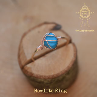 Blue Howlite Wrap Ring