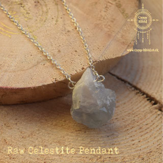 Raw Celestite Pendant