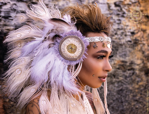 Amala- Light and Pure feather headdress