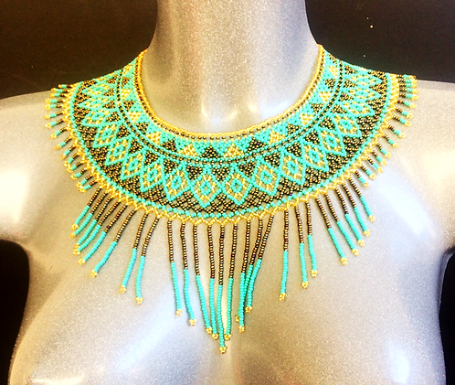Aqua Beaded Collar