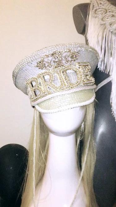 Classy bride hat