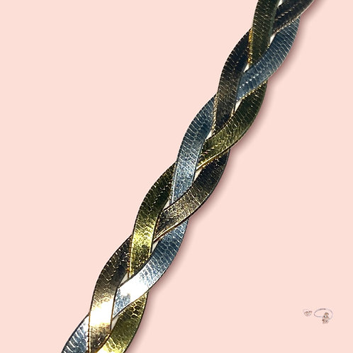 Armkette dreifarbig vergoldet