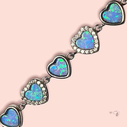 Armkette opal Babyherz