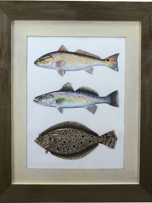Framed Inshore Slam Limited Edition Giclee Print