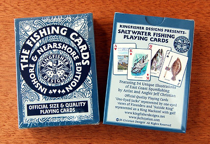 Inshore fishing playing cards