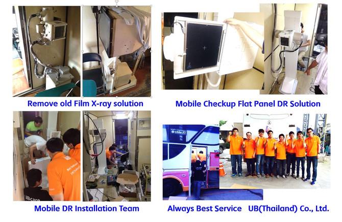 Mobile Check-up Flat Panel Digital Radiography