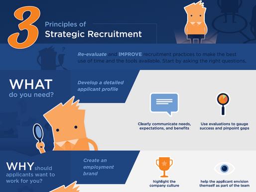 3 Principles of Strategic Recruitment (Thrive PEO Infographic)