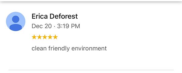 Clean friendly environment
