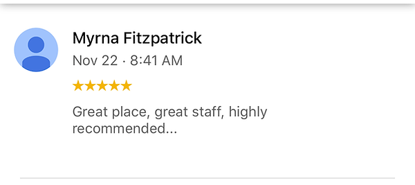 Great place, great staff, highly recommended