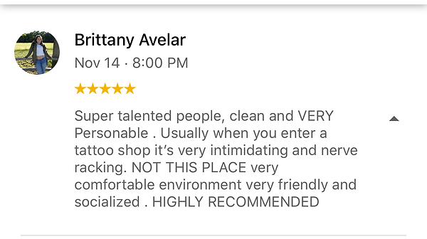 An Amazing 5 star rating for Sacred Traditions Tattoo