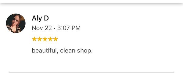 beautiful, clean shop