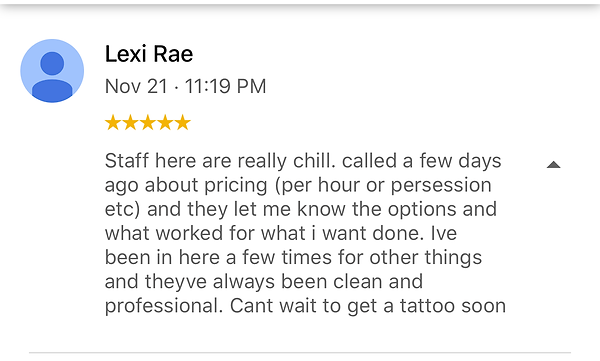 Clean and Professional Tattoo Shop