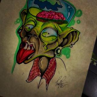 brain dead drawing