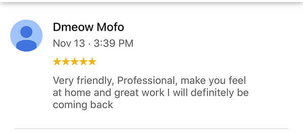 Very friendly, Professional Tattoo Shop