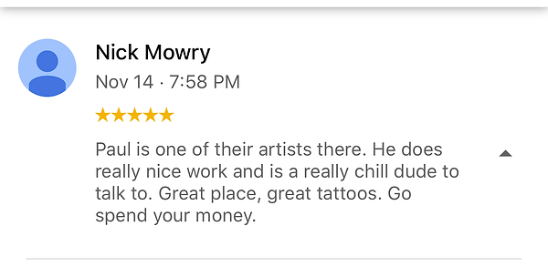 great place, great tattoos