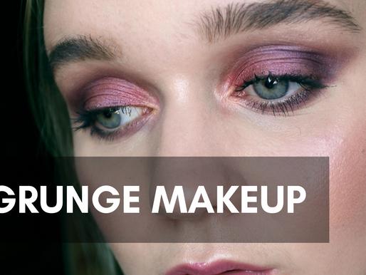 Purple Grunge Makeup using MUD