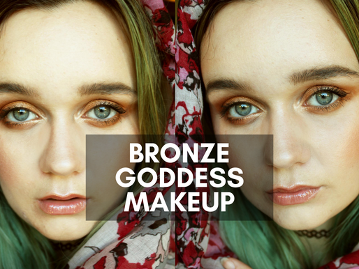 Bronzed Goddess Makeup Look using MUD
