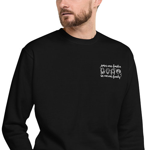 We Are One Family | Premium Embroidered  Unisex Fleece Pullover