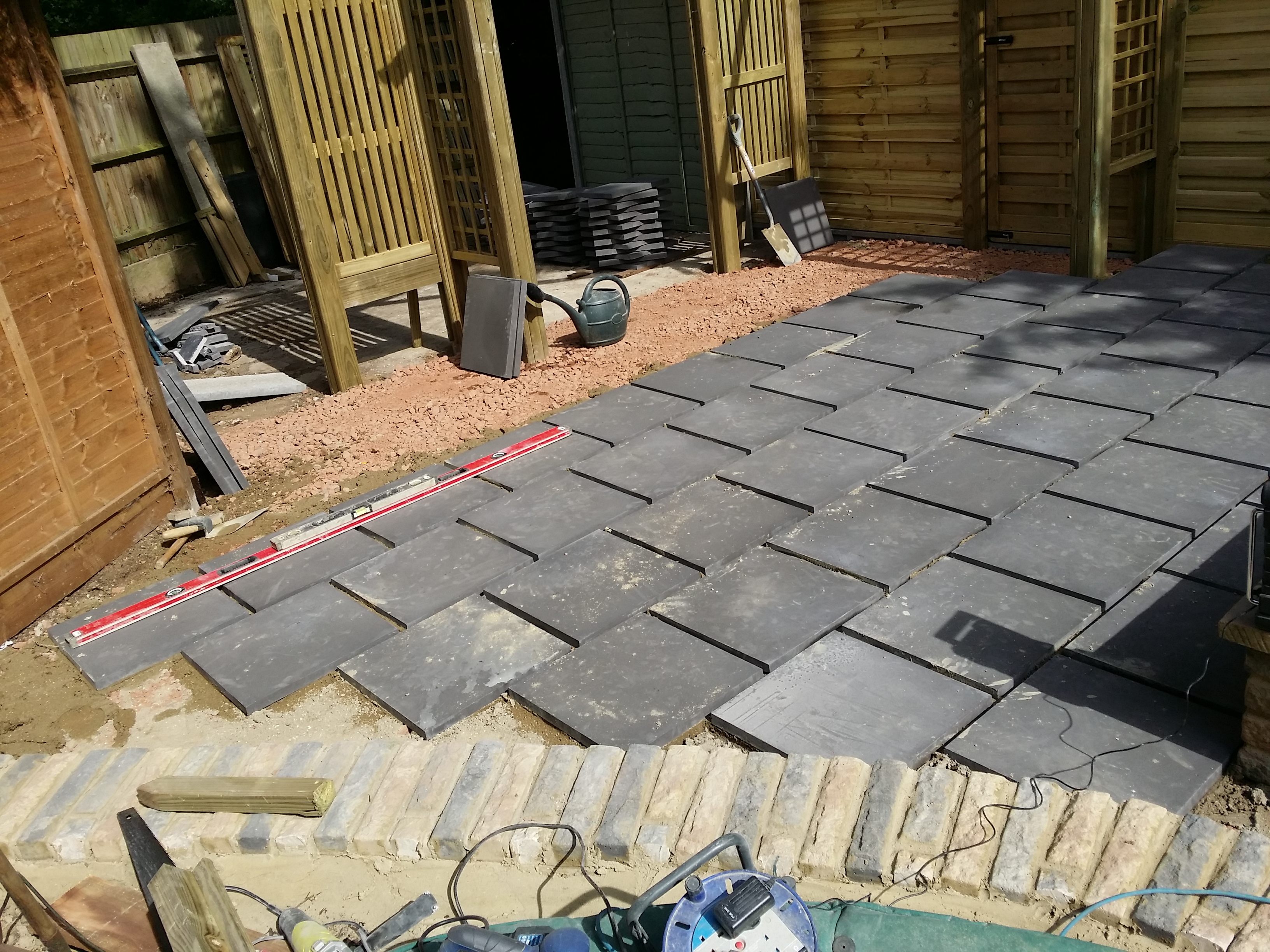 Laying the Patio