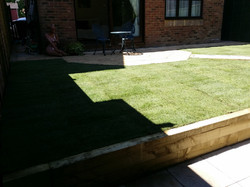 Fresh Turf and Jet washed Patio