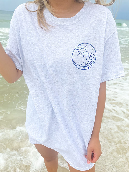 Happiness Comes In Waves Tee
