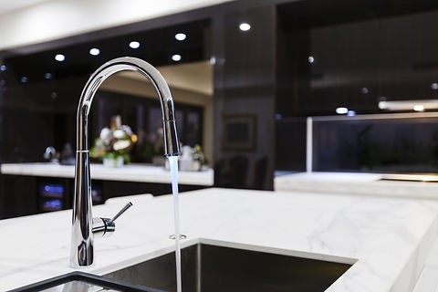 Modern kitchen faucet with LED light.jpg