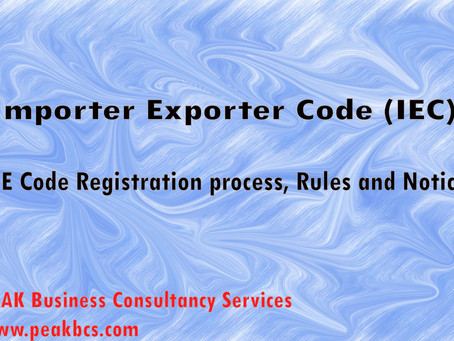Importer Exporter Code (IEC) - Registration and Rules