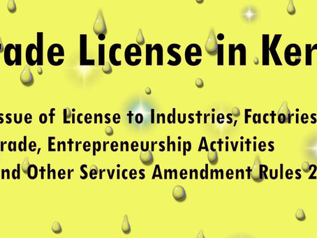 Trade / D & O License in Kerala