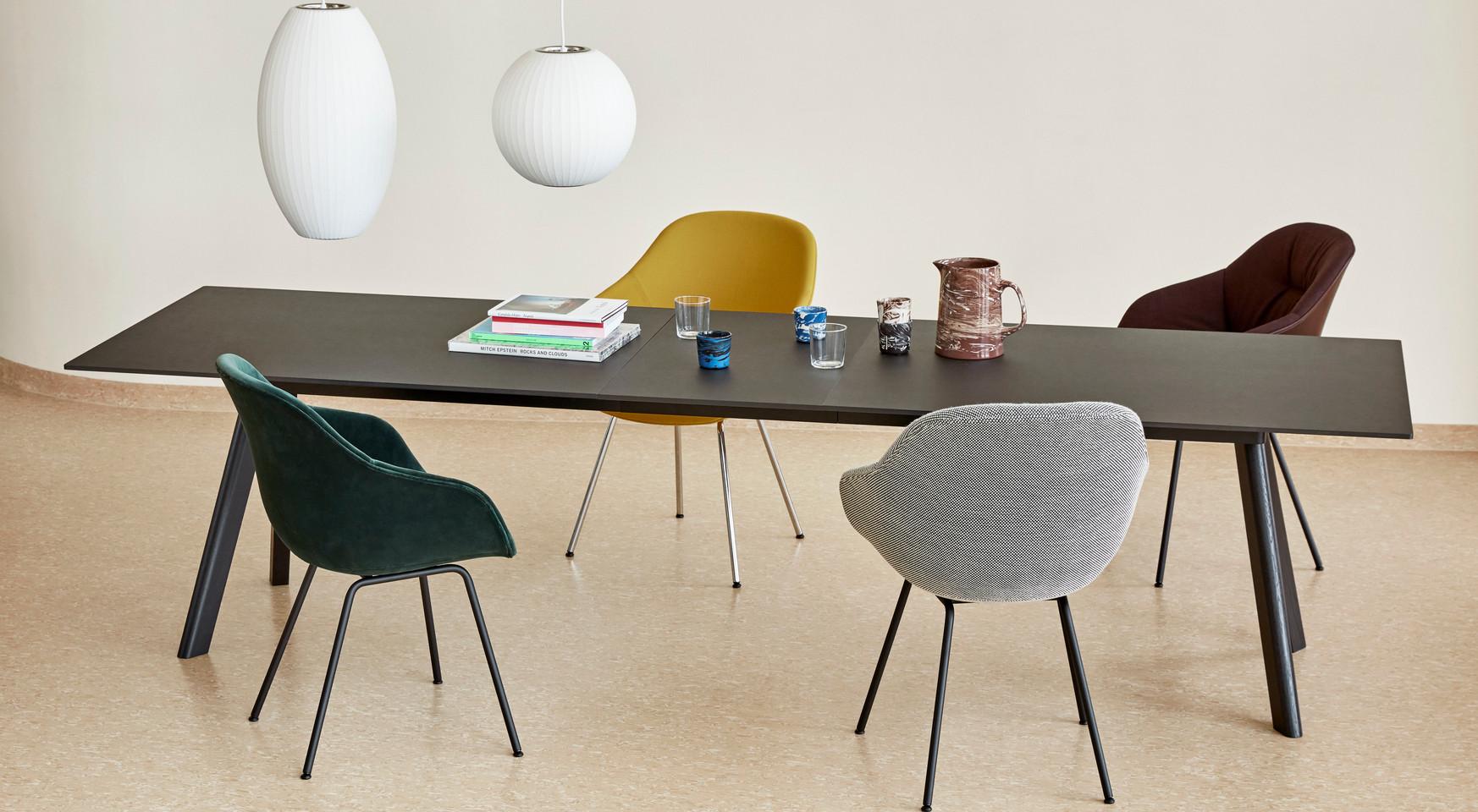 CPH 30 Table Extendable black linoleum_B