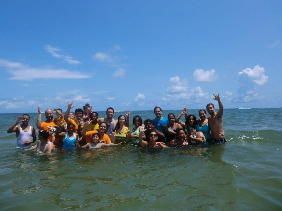 BAPTISM DEAF PEOPLE AT BEACH