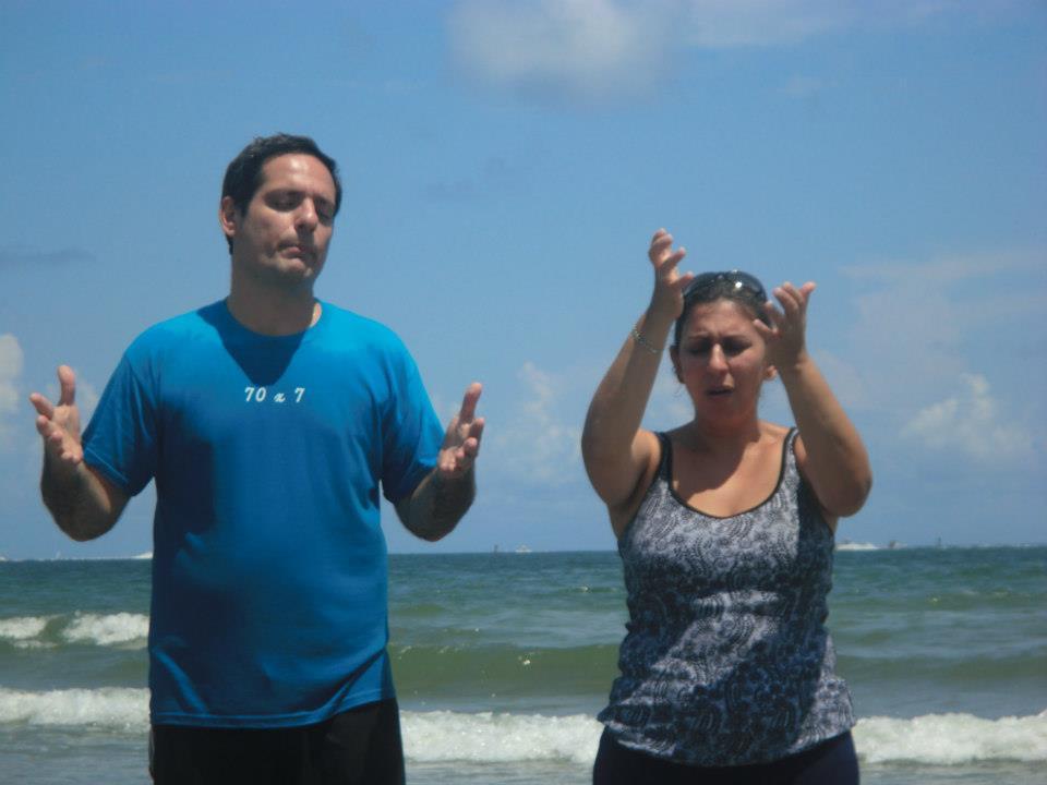 BAPTISM IN BEACH
