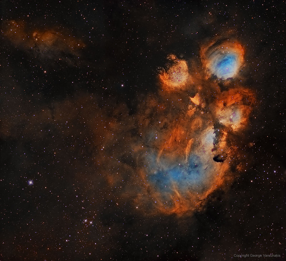 The Cat's Paw Nebula Astrophotography wide field