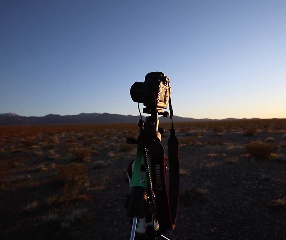 The Canon 5D Mark II on the Sky-Watcher Star Adventurer Pro