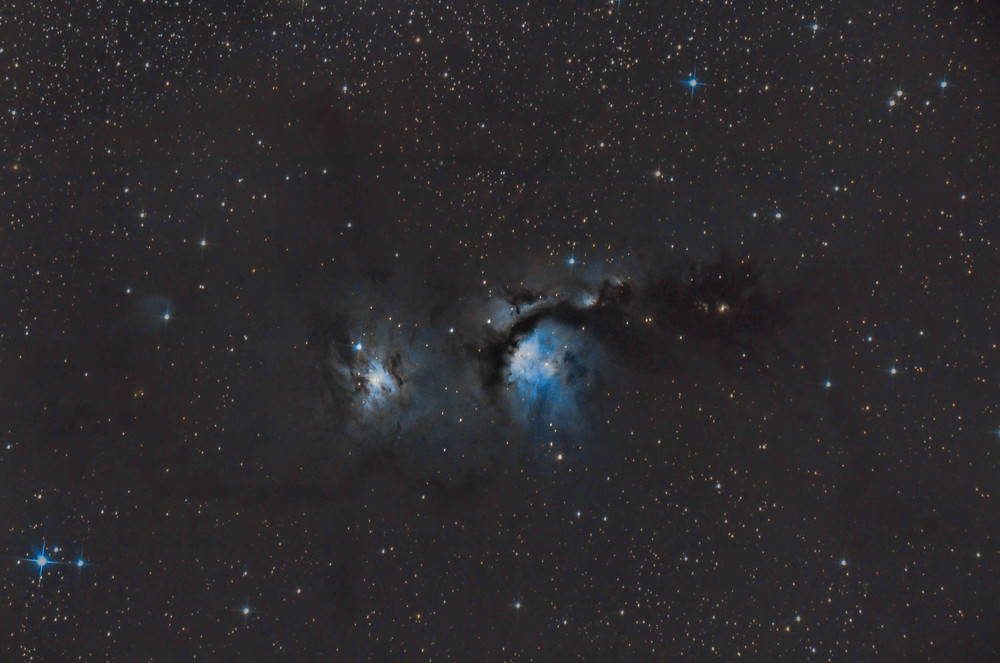 Crop on M78 from Barnard's Loop DSLR Astrophotography with an unmodified Canon 7D Mark II and an Astronomik DSLR Clip-on Ha filter