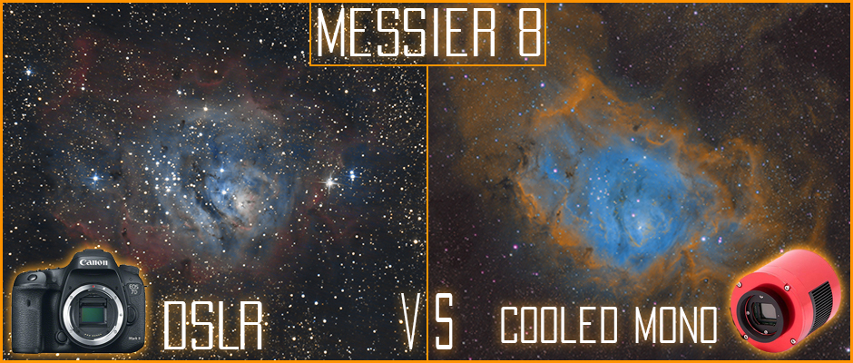 The Lagoon Nebula DSLR vs Narrowband imaging with a ZWO ASI 1600MM Astrophotography camera