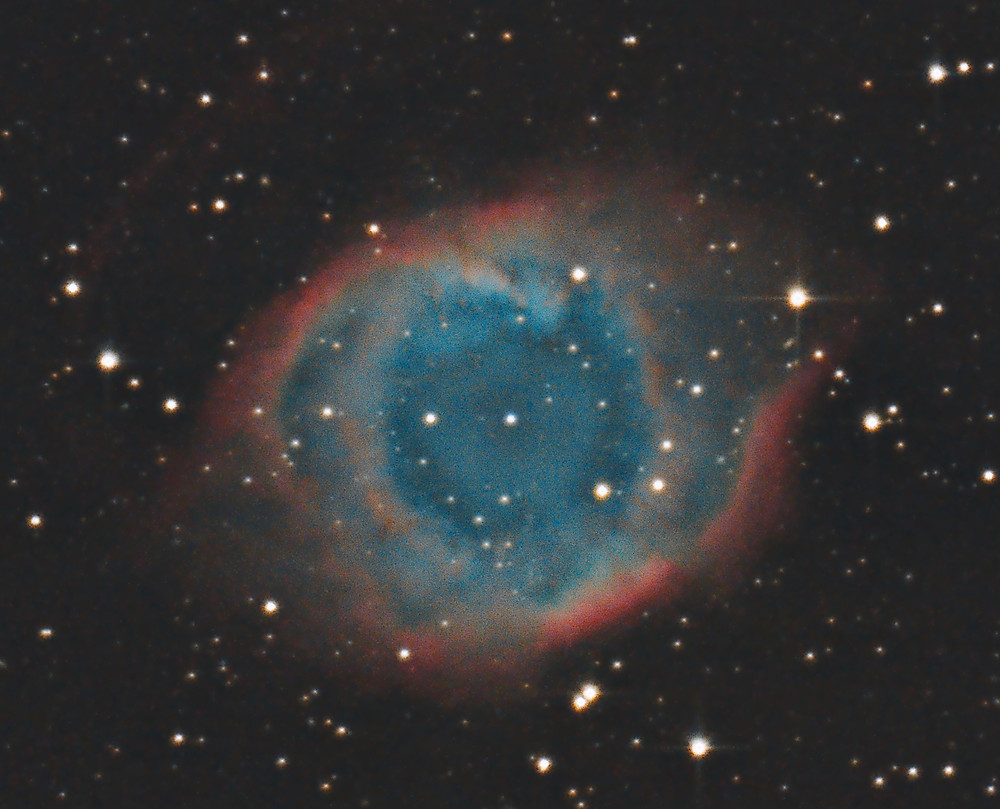 The Helix Nebula (NGC 7293) DSLR Astrophotography with a Canon 7D Mark II unmodified camera in Nevada