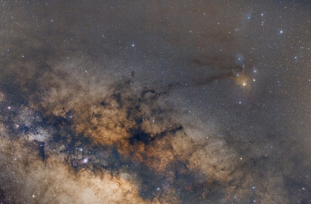 Rho Ophiuchi Astrophotography with a 50mm lens and star tracker