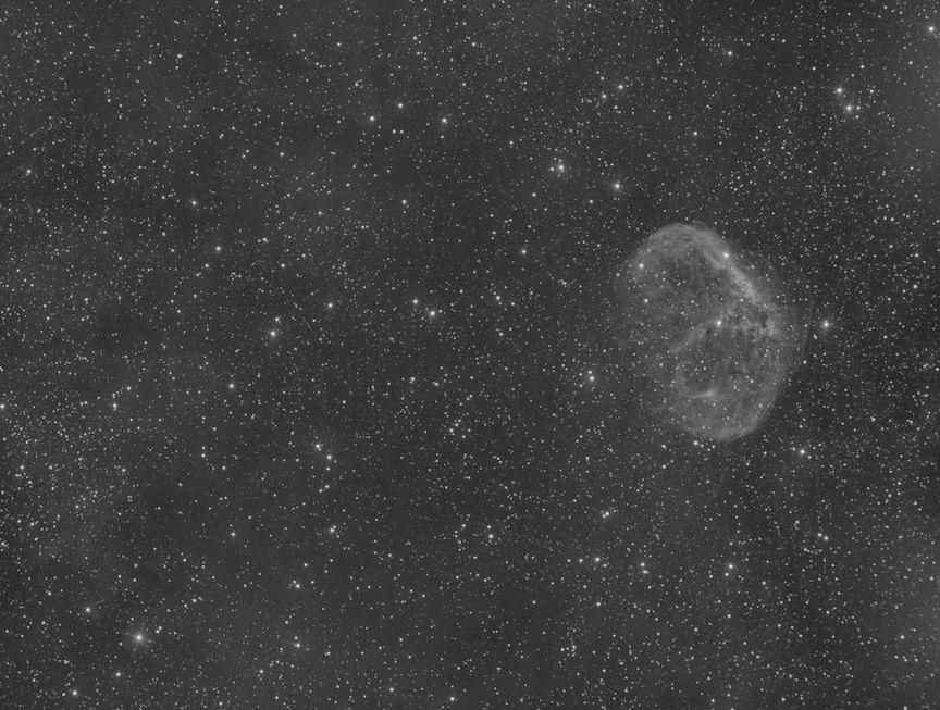The Crescent Nebula in Oxygen III narrowband