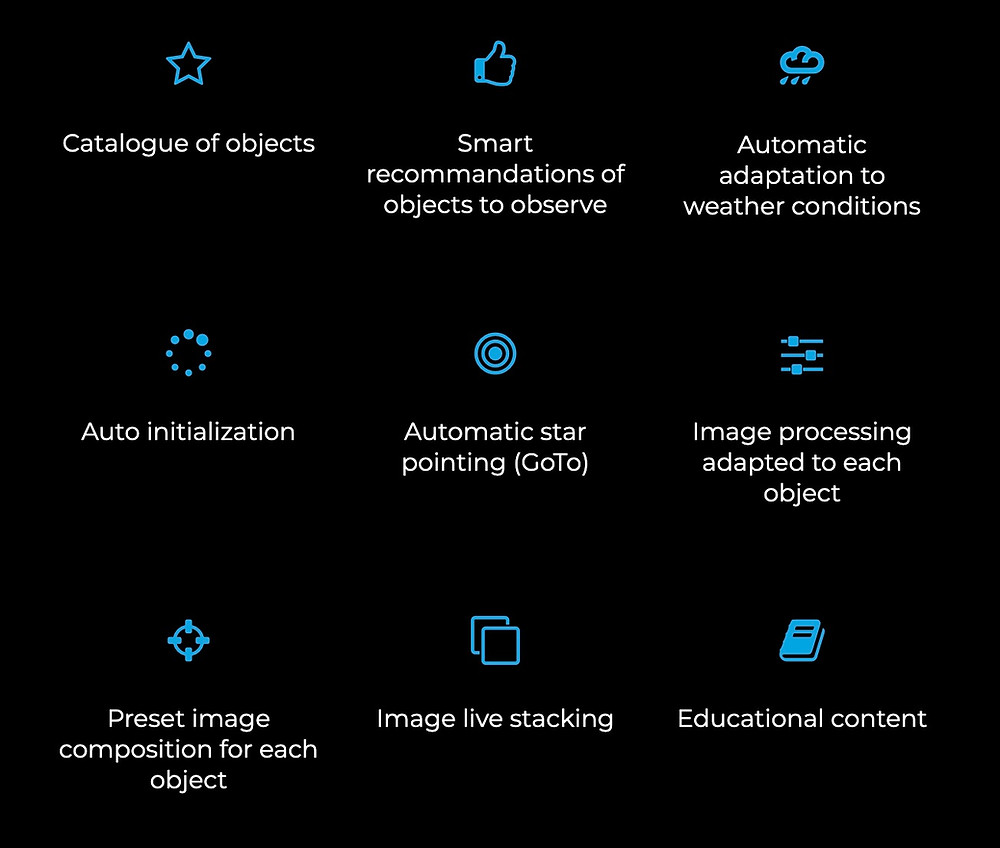 Stellina smart telescope full review: App specification sheet