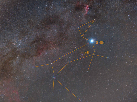 Canis Major - Wide field Astrophotography of the Constellation of the dog