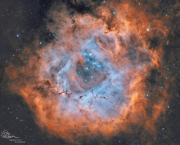 The Rosette Nebula taken with the Orion ED80T CF telescope - Wide Field DSLR Astrophotography