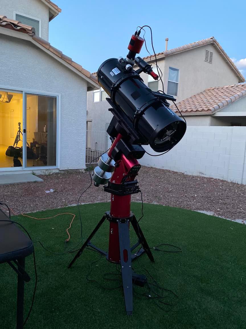 Telescope in backyard Astrophotography