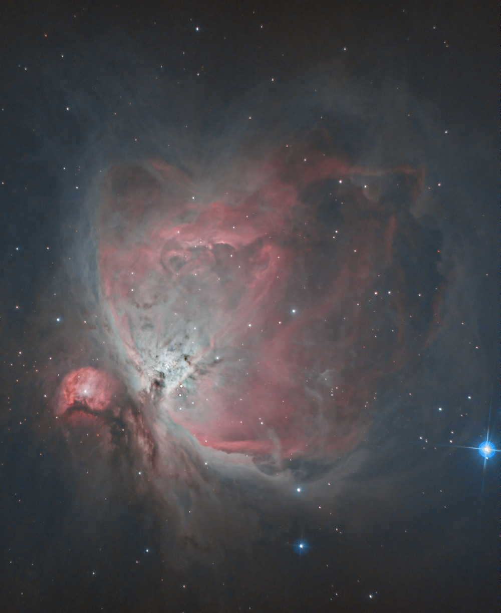The Orion Nebula backyard astrophotography with the TRIAD  filter