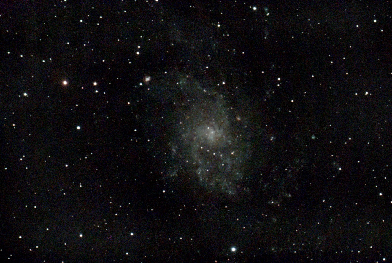 Messier 33 the Triangulum Galaxy Astrophotography taken with Stellina from Vaonis, Galactic Hunter